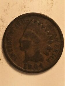 1904  A  US  1 CENT INDIAN HEAD