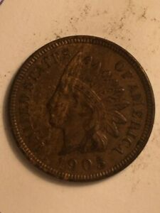 1905  A  US  1 CENT INDIAN HEAD