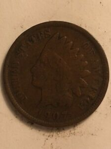 1907  B  US  1 CENT INDIAN HEAD
