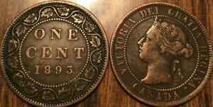 1893 CANADA LARGE 1 CENT COIN PENNY G  BUY 1 OR MORE ITS