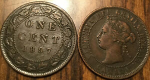 1897 CANADA LARGE 1 CENT COIN PENNY G  BUY 1 OR MORE ITS