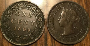 1899 CANADA LARGE 1 CENT COIN PENNY G  BUY 1 OR MORE ITS
