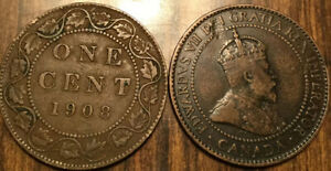 1908 CANADA LARGE 1 CENT COIN PENNY G  BUY 1 OR MORE ITS