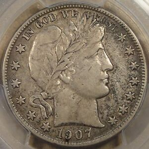 1907 O BARBER HALF DOLLAR PCGS VF 35 HARD NOT TO CALL THIS A 40