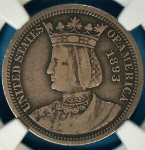 1893 ISABELLA QUARTER NGC F12  SHARP CONTRAST NICE LOOKING PQ FOR THE GRADE