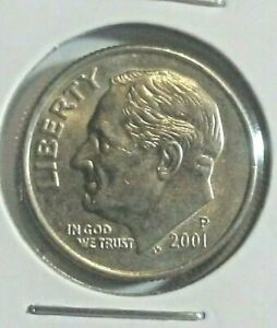 2001 P ROOSEVELT DIME CIRCULATED FINE DETAIL