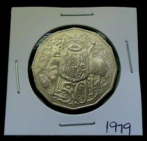 1979 AUSTRALIA FIFTY 50 CENT COIN   ELIZABETH II   LUSTROUS & UNCIRCULATED