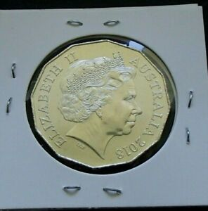 2018 AUSTRALIA UNCIRCULATED FIFTY 50 CENT COIN   ELIZABETH II   24A
