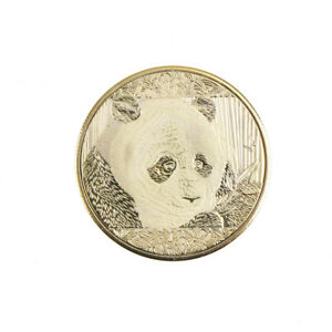 GOLD PLATED CUTE PANDA BAOBAO COMMEMORATIVE COINS COLLECTION ART GIFT OF KK MECA