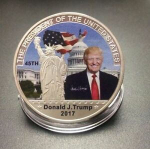 45TH US PRESIDENT DONALD TRUMP  SILVER COMMEMORATIVE COIN LIBERTY WHITE HOUSE