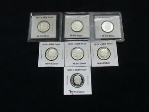7 SILVER ROOSEVELT DIMES  2013 S 2014 S 2015 S 2016 S   2018 S &  2019 S