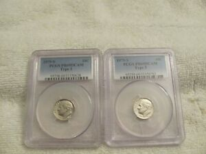 Click now to see the BUY IT NOW Price! LOT OF  2  ROOSEVELT DIMES PCGS 1979 S PR69DCAM TY1 & PCGS 1979 S PR69DCAM TY2