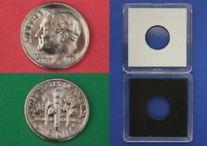 1984 D ROOSEVELT DIME WITH 2X2 CASE FROM MINT SETS COMBINED SHIPPING