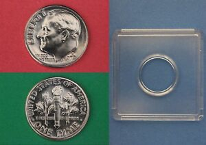 1972 D ROOSEVELT DIME WITH 2X2 SNAP FROM MINT SETS COMBINED SHIPPING