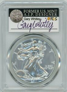 Click now to see the BUY IT NOW Price! 2011 $1 1 OZ SILVER EAGLE 25TH ANNIVERSARY SET MS70 PCGS GARY WHITLEY  POP 25