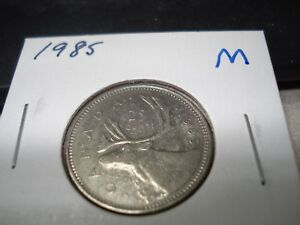 1985 Elizabeth II Twenty Five Cent - Quarter Mintage, Photos