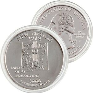 2008 P NEW MEXICO STATE QUARTER BRILLIANT UNCIRCULATED FROM MINT ROLL IN FLIP