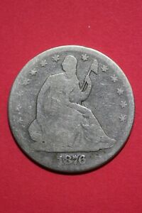 1876 P SEATED LIBERTY HALF DOLLAR EXACT COIN PICTURED FLAT RATE SHIPPING OCE 071