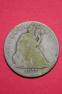 1877 S SEATED LIBERTY HALF DOLLAR EXACT COIN PICTURED FLAT RATE SHIPPING OCE 053