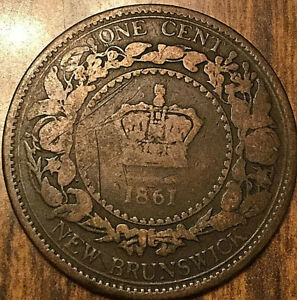 1861 NEW BRUNSWICK LARGE CENT PENNY