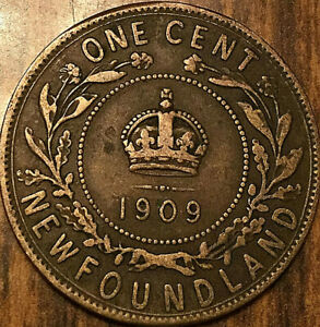 1909 NEWFOUNDLAND LARGE CENT PENNY