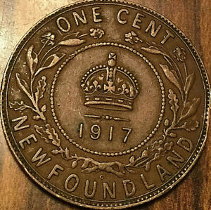 1917 NEWFOUNDLAND LARGE CENT PENNY