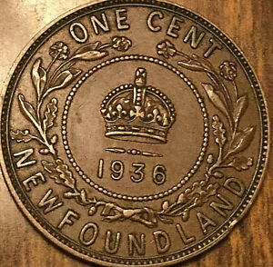 1936 NEWFOUNDLAND LARGE CENT PENNY
