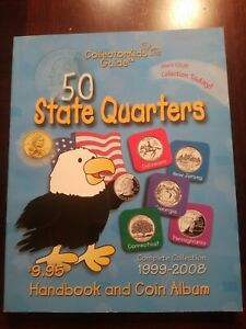 NOS COLLECTORKIDS GUIDE 50 STATE QUARTERS HANDBOOK AND ALBUM 1999 2008 FUN FACTS