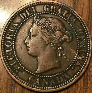 1876H CANADA LARGE CENT PENNY LARGE 1 CENT
