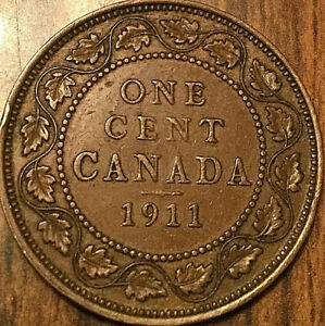 1911 CANADA LARGE CENT PENNY LARGE 1 CENT   EXCELLENT EXAMPLE