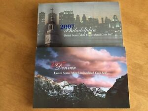 2007 UNITED STATES P & D MINT UNCIRCULATED COIN SET   28 COINS WITH COA  WOW