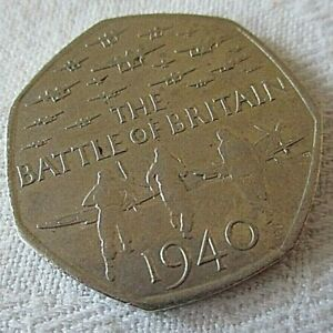 BATTLE OF BRITAIN COMMEMORATIVE COIN 2015 50P FIFTY PENCE