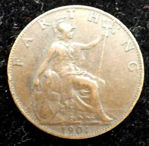 1901 QUEEN VICTORIA FARTHING COIN   GREAT BRITAIN.