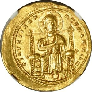 Click now to see the BUY IT NOW Price! 1028 1034 A.D. AV HISTAMENON ROMANUS III BYZANTINE NGC AU55