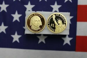 2007 S PRESIDENTIAL PROOF DOLLAR ROLL   JAMES MADISON   20 COINS