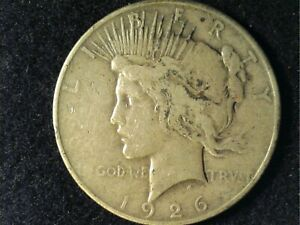 1926 D PEACE SILVER DOLLAR LOWER GRADE COIN PLEASE GRADE FOR YOURSELF