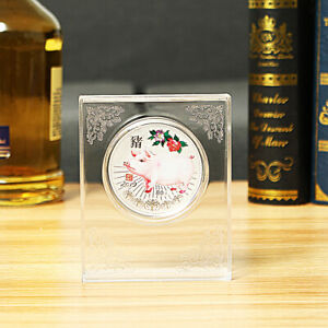 2019 CHINESE LUNAR YEAR COMMEMORATIVE PIG COIN 80G ANIVERSARY GIFT DISPLAY CASE