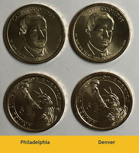 2014 P D  2  PRESIDENTIAL CALVIN COOLIDGE $1 COINS.  FROM MINT WRAPPED ROLLS