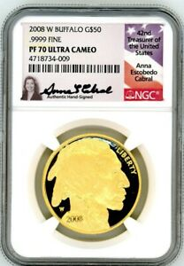 Click now to see the BUY IT NOW Price! 2008 W $50 PROOF GOLD BUFFALO PF70 NGC ULTRA CAMEO A. CABRAL