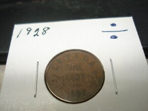 1928   CANADA   ONE CENT   CANADIAN PENNY