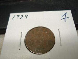 1929   CANADA   ONE CENT   CANADIAN PENNY
