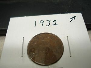 1932   CANADA   ONE CENT   CANADIAN PENNY