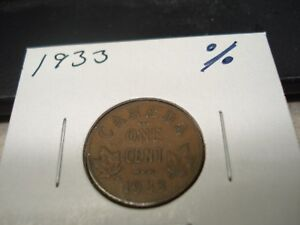 1933   CANADA   ONE CENT   CANADIAN PENNY