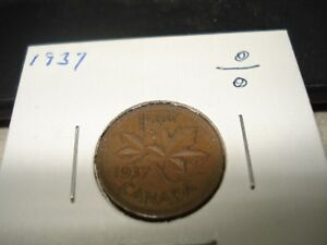 1937   CANADA   ONE CENT   CANADIAN PENNY