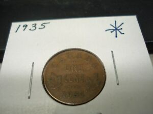 1935   CANADA   ONE CENT   CANADIAN PENNY