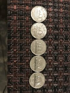LOT OF 5 CANADIAN NICKELS 60 61 62 65 68