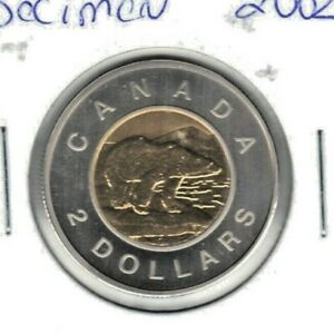CANADA 2002 SPECIMEN TWO DOLLAR COIN