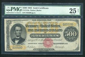 Click now to see the BUY IT NOW Price! FR. 1216A 1882 $500 FIVE HUNDRED DOLLARS GOLD CERTIFICATE PMG FINE 25