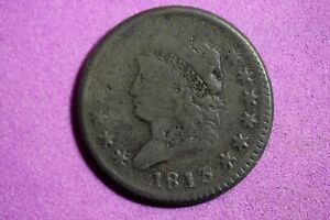 ESTATE FIND 1813 CLASSIC HEAD LARGE CENT   G3594