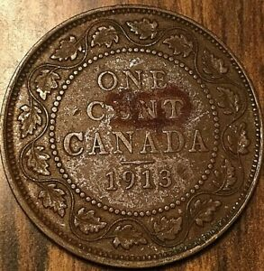 1913 CANADA LARGE CENT PENNY LARGE 1 CENT